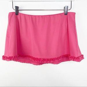 J. CREW Ruffle Hem Pink Swim Skirt M